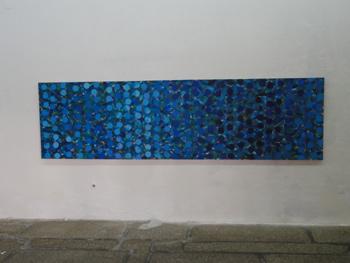 Brazil, Acryl auf Cotton Druck, 100 x 360 cm, 2000